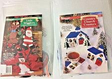 Buy Country Church Coasters Kit and Little Wigglers Plastic Canvas Kits NIP