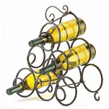 Buy 32405U - Scrollwork Black Wrought Iron Wine Rack