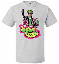Buy Boba Fresh Unisex T-Shirt Pop Culture Graphic Tee (S/Ash) Humor Funny Nerdy Geeky Shi