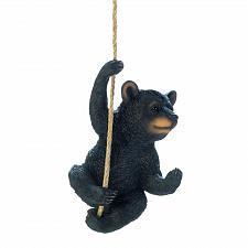 Buy *18450U - Hanging Rope Black Bear Décor Figure Statue