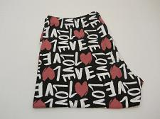 Buy No Boundaries Womens Ankle Legging Size 2XL Black Love Print Hearts