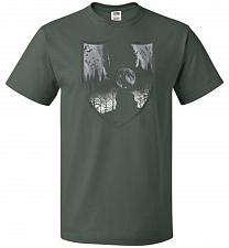 Buy Direwolves House Unisex T-Shirt Pop Culture Graphic Tee (2XL/Forest Green) Humor Funn
