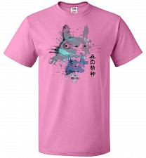 Buy Watercolor Totoro Unisex T-Shirt Pop Culture Graphic Tee (XL/Azalea) Humor Funny Nerd
