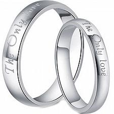Buy coi Jewelry Platinum White Titanium The Only Love Ring
