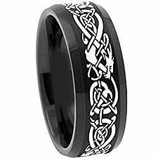Buy coi Jewelry Black Tungsten Carbide Dragon Wedding Ring