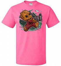 Buy Tiny Groot Unisex T-Shirt Pop Culture Graphic Tee (XL/Neon Pink) Humor Funny Nerdy Ge