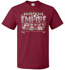 Buy Boardwalk Empire Unisex T-Shirt Pop Culture Graphic Tee (S/Cardinal) Humor Funny Nerd