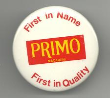 Buy Vintage PRIMO First in Name First in Quality Collectible Pinback Button Pin