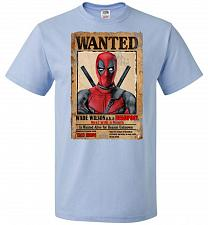 Buy Deadpool Wanted Poster Youth Unisex T-Shirt Pop Culture Graphic Tee (Youth L/Light Bl
