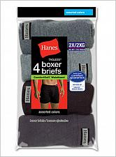 Buy 8 Pair Hanes Mens TAGLESS Boxer Briefs ComfortSoft Waistband #7460P48
