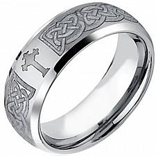 Buy coi Jewelry Tungsten Carbide Cross Wedding Band Ring