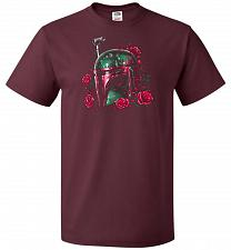 Buy Phantom Of The Empire Fett Unisex T-Shirt Pop Culture Graphic Tee (3XL/Maroon) Humor