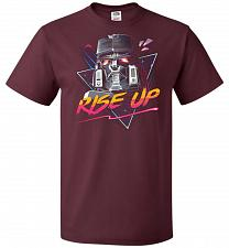 Buy Rise Up Unisex T-Shirt Pop Culture Graphic Tee (6XL/Maroon) Humor Funny Nerdy Geeky S