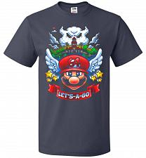 Buy Retro Mario 64 Tribute Adult Unisex T-Shirt Pop Culture Graphic Tee (L/J Navy) Humor