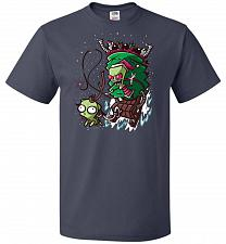 Buy Zime That Stole Christmas Unisex T-Shirt Pop Culture Graphic Tee (XL/J Navy) Humor Fu