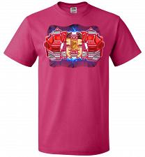 Buy Red Ranger Unisex T-Shirt Pop Culture Graphic Tee (L/Cyber Pink) Humor Funny Nerdy Ge