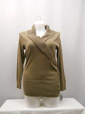 Buy Womens Sweater STYLE&CO SIZE XL Rye Long Sleeve Shawl Collar Lace up Pullover