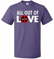 Buy All Out Of Love Unisex T-Shirt Pop Culture Graphic Tee (S/Purple) Humor Funny Nerdy G