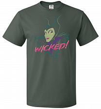 Buy Wicked! Unisex T-Shirt Pop Culture Graphic Tee (5XL/Forest Green) Humor Funny Nerdy G