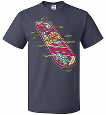 Buy Anatomy Of A Hover Board Unisex T-Shirt Pop Culture Graphic Tee (XL/J Navy) Humor Fun