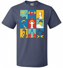 Buy Popiece Art Unisex T-Shirt Pop Culture Graphic Tee (3XL/Denim) Humor Funny Nerdy Geek