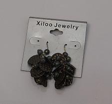 Buy Women Beaded Metal Earrings Drop Dangle Green Tones Hook Fasteners XILOO JEWELRY
