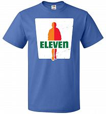 Buy 0-Eleven Unisex T-Shirt Pop Culture Graphic Tee (L/Royal) Humor Funny Nerdy Geeky Shi