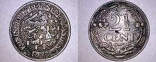 Buy 1941 Netherlands 2 1/2 Cent World Coin - Wilhelmina I