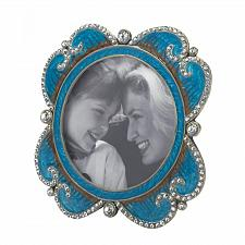 Buy *17047U - Turquoise Enamel Rhinestone Treasure Photo Frame Holds 3x3 Round