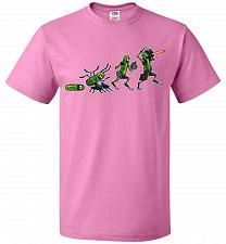 Buy Pickle Rick Evolution Unisex T-Shirt Pop Culture Graphic Tee (XL/Azalea) Humor Funny