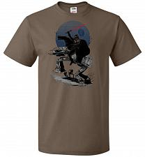 Buy Crossing The Dark Path Unisex T-Shirt Pop Culture Graphic Tee (M/Chocolate) Humor Fun
