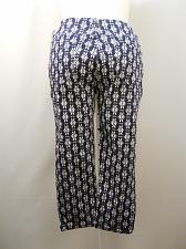 Buy Women Capri Jeggings SIZE 2XL Blue GEO Print Back Pockets Cuffed Legs Inseam 24