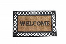 Buy *17940U - Bold X Border Rubber Coir Welcome Door Mat