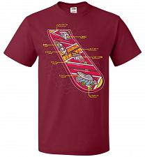 Buy Anatomy Of A Hover Board Unisex T-Shirt Pop Culture Graphic Tee (XL/Cardinal) Humor F