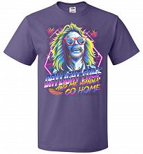 Buy Beetlejuice 80s Nostalgia Adult Unisex T-Shirt Pop Culture Graphic Tee (4XL/Purple) H