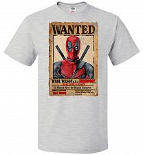 Buy Deadpool Wanted Poster Youth Unisex T-Shirt Pop Culture Graphic Tee (Youth L/Ash) Hum