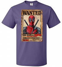 Buy Deadpool Wanted Poster Youth Unisex T-Shirt Pop Culture Graphic Tee (Youth S/Purple)