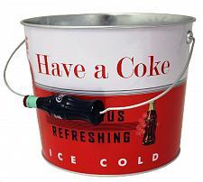 Buy :10770U - Vintage Coke Coca Cola Steel Beverage Bucket w/Bottle Handle
