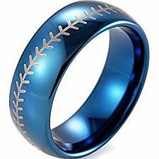 Buy coi Jewelry Tungsten Carbide BaseBall Wedding Band Ring