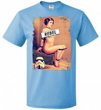 Buy Princess Leia Rebel Youth Unisex T-Shirt Pop Culture Graphic Tee (Youth L/Aquatic Blu