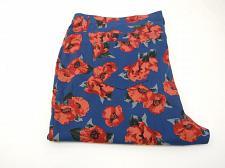 Buy Women Jeggings PLUS SIZE 3X Blue Floral Skinny Legs Back Pockets Inseam 29