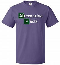Buy Alternative Chemical Symbol Unisex T-Shirt Pop Culture Graphic Tee (5XL/Purple) Humor