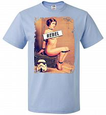 Buy Princess Leia Rebel Youth Unisex T-Shirt Pop Culture Graphic Tee (Youth M/Light Blue)
