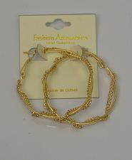 Buy Women Hoop Chain Earrings Fashion Gold Tones Leverback Fasteners FASHION ACCESSO