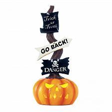 Buy *18138U - Spooky Halloween Pumpkin LED Light-Up Sign