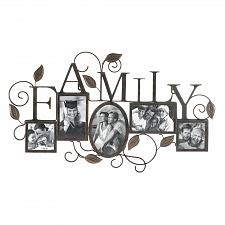 Buy *17860U - Family Black Iron Sculpture 5-Photo Frame Wall Art
