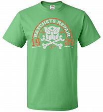 Buy Transformers Ratchet's Repair Adult Unisex T-Shirt Pop Culture Graphic Tee (M/Kelly)