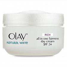 Buy Olay Natural White Day Cream Skin Whitening with Sunscreen SPF 24 50 grams