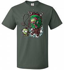 Buy Zime That Stole Christmas Unisex T-Shirt Pop Culture Graphic Tee (S/Forest Green) Hum
