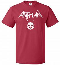 Buy Antman Anthrax Parody Unisex T-Shirt Pop Culture Graphic Tee (5XL/True Red) Humor Fun